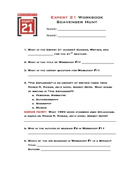 Expert 21 Course 2 Scavenger Hunt