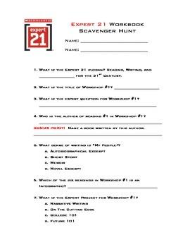 Expert 21 Course 3 Scavenger Hunt