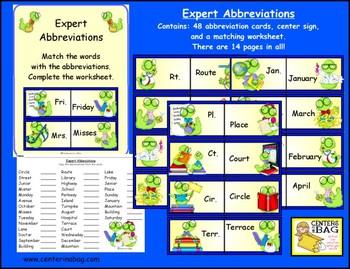 Expert Abbreviations