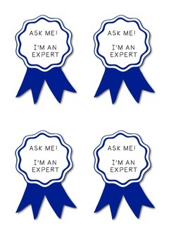 "Expert Badges ""Ask Me!"" For Early Finishers"