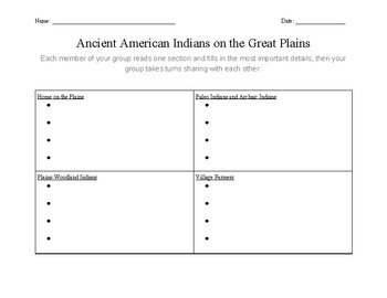 Expert Groups: Great Plains Indians