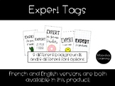 Expert Tags (in both French and English)