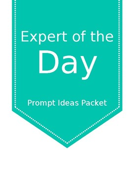 Expert of the Day: Prompt Ideas Packet (Color)
