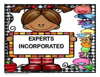 Experts Incorporated - 4th Grade Trifolds + Activities