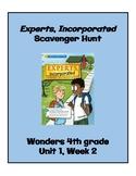 Experts, Incorporated Scavenger Hunt (4th Grade Wonders; U