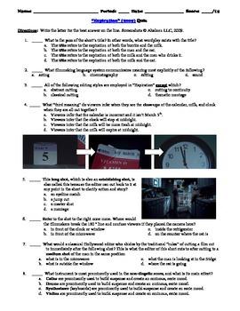Expiration Film Short (2009) 15-Question Multiple Choice Quiz