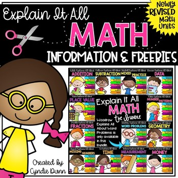 Explain It All Math Activities Freebie
