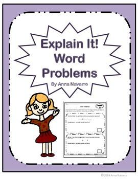 Explain It! Word Problems