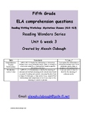 Explain Relationships -Reading Wonders Grade 5 U6W3