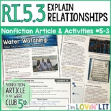 Explain Relationships in a Text RI.5.3 | Drowning Prevention Article #5-3