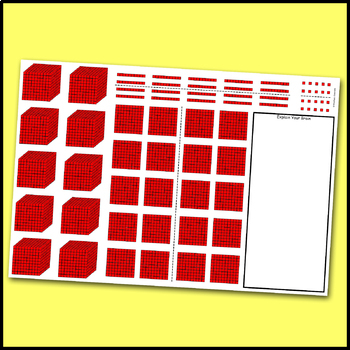 Base 10 Blocks for Addition & Subtraction to 10000 Math Mat