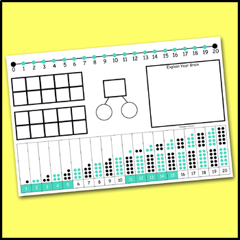 Addition & Subtraction to 20 Visual Strategy Math Mat