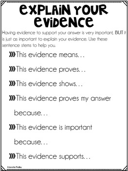 Explain Your Evidence Poster Set