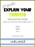 Explain Your Thinking: Addition AND Subtraction Word Problems within 100