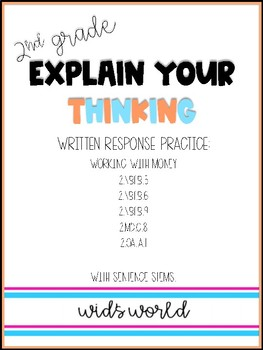 Explain Your Thinking: Working with Money