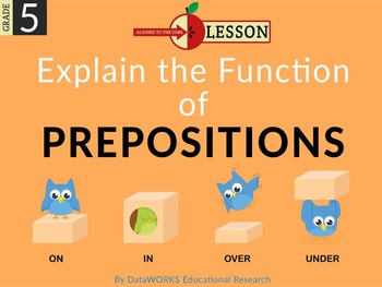 Explain the Function of Prepositions