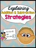 Explaining Addition and Subtraction Strategies