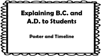 Explaining B.C. and A.D. to Students Poster