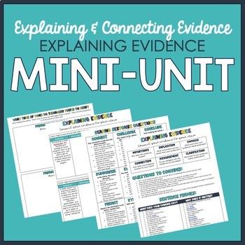 Explaining Evidence Mini-Unit
