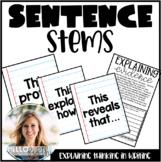Explaining Evidence Sentence Stems