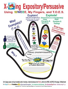 Expository & Persuasive using your Palm, Fingers, TOES, and the Letters W & E!
