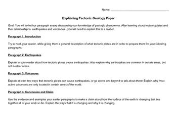 Explaining Geologic Phenomena Paper