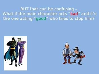 Explaining Hero vs. Villain Protagonist vs. Antagonist PowerPoint