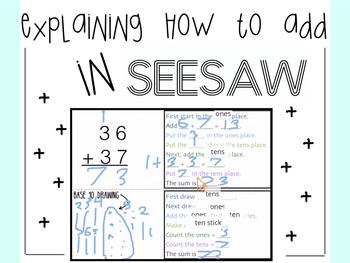 Explaining How to Add in Seesaw