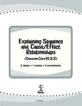 Explaining Sequence and Cause/Effect Relationships (Common Core RI.3.3)