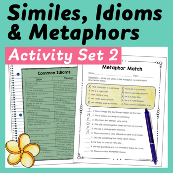 Similes, Metaphors, and Idioms: Centers and Printables