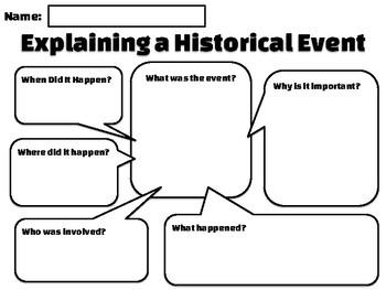 Explaining a Historical Event Worksheet PDF Version