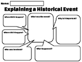 Explaining a Historical Event Worksheet PDF Version