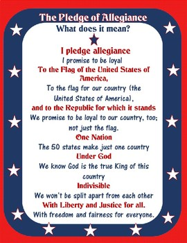 Explaining the Pledge of Allegiance Line by Line