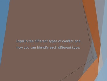 Explaining the Types of Conflict