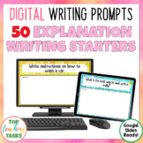 Explanation Digital Writing Prompts for Google Drive®