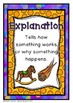 Explanation Writing Pack {5 Anchor Charts, 3 Differentiated Templates}
