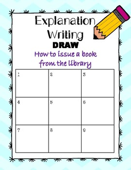 Explanation Writing Pack: How to issue a library book