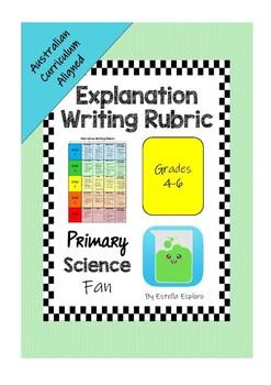 Explanation Writing Rubric