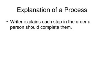Explanation of a Process PPT