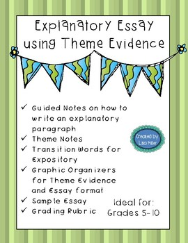 Explanatory Essay Short Write with Notes, Organizers, and a Rubric