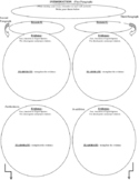 Explanatory Essay planning web graphic Organizer