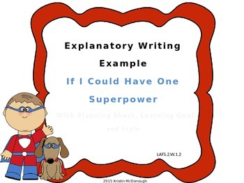 Explanatory Example Powerpoint with Learning Goal and Scal