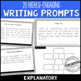 Explanatory Expository Writing Prompts for Grades 3, 4, 5 with Brainstorming