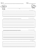 Explanatory (Informational) Writing Template