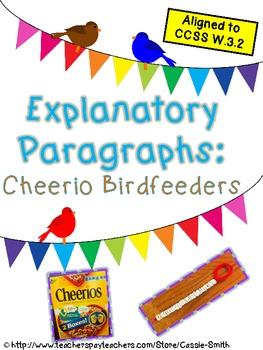 Explanatory Paragraphs: Cheerio Birdfeeders