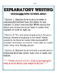 Explanatory Writing Activity