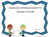 Explanatory Writing Example Powerpoint-If It Snowed in Florida