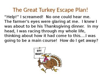 Explanatory Writing Example Powerpoint; The Great Turkey E