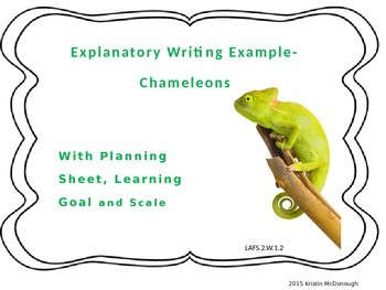 Explanatory Writing Example Powerpoint with Learning Goal