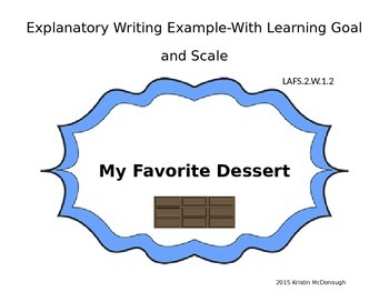 Explanatory Writing Example with Learning Goal and Scale